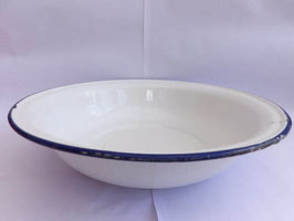 Grande bassine ancienne en métal émaillé / Old large enamel bowl