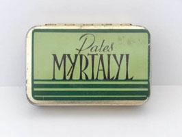 Boite en métal ancienne de pharmacie pates Myrtalyl / Old Myrtalyl pill pharmacy tin