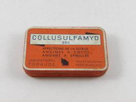 Boite ancienne en métal de médicament Collusulfamyd / Vintage french pharmacy Collusulfamyd tin