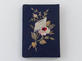 Ancien agenda souvenir brodé / French antique embroidered diary