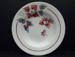 Lot de 5 assiettes creuses Digoin & Sarreguemines modèle Clématite / Lot of 5 Digoin & Sarreguemines shallow bowls model Clematite