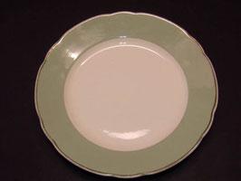 Assiettes Villeroy & Boch bordure verte / Villeroy & Boch plates green band