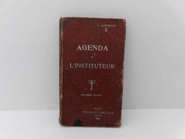 Ancien agenda de l'instituteur 1921 / Old french teacher's diary 1921