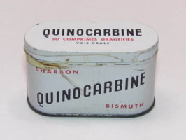Boite métal pharmacie Quinocarbine / Quinocarbine pharmacy tin