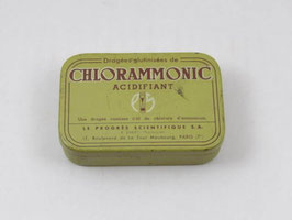 Boite métal médicament Chlorammonic / Chlorammonic pharmacy tin