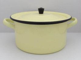 Marmite vintage en métal émaillé / Vintage enamel pot