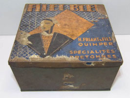 Grande boite metal à biscuits Filet Bleu Quimper / Large biscuit tin Filet Bleu Quimper