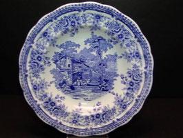 Assiette bleue et blanche creuse Lunéville / French Luneville blue and white shallow bowl