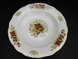 Lot de 5 assiettes creuses Digoin & Sarreguemines modèle Floralies / Lot of 5 Digoin & Sarreguemines shallow bowls, model Floralies
