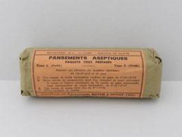 Paquet de pansements aseptiques de l'armée / French Army bandage roll