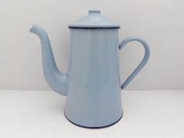 Verseuse à café en métal émaillé bleue / Blue enamel coffee pot
