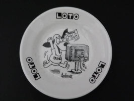Ramasse-monnaie en faïence de Gien Loto / Gien Loto change dish