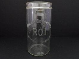 Bocal en verre rare et ancien inscription ROI / Old and rare glass jar, with ROI inscription
