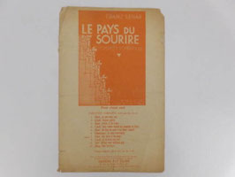 """Partition Le pays du sourire / """"Le pays du sourire"""" sheet music"""