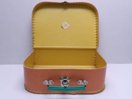 Petite valise de poupée en carton orange vintage / Little doll's case in vintage orange cardboard