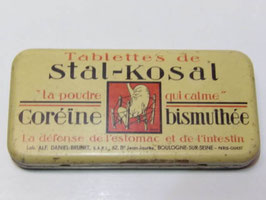 Boite ancienne en métal de médicament Stal-Kosal / Old french pharmacy Stal-Kosal tin