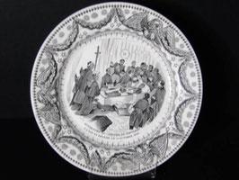 Assiette parlante Creil et Montereau Napoléon / Creil et Montereau talking plate Napoleon
