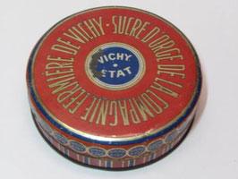Boite métal ancienne sucre d'orge de la compagnie fermière de Vichy Etat / Vintage candy cane tin from La Compagnie fermière de Vichy Etat