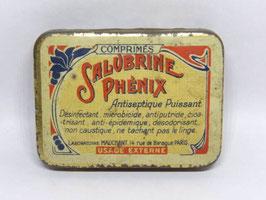 Boite en fer Salubrine Phénix / French tin Salubrine Phénix