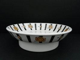 Compotier en faience de Badonviller / Badonviller fruit bowl