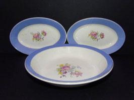 Ensemble de 2 raviers et 1 plat Digoin Sarreguemines Provence / Set of 2 Digoin Sarreguemines dishes and 1 serving plate