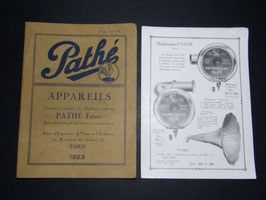Notices de Gramophone Pathé 1923 / French Pathé gramophone booklet 1923