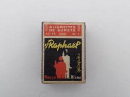 Boite ancienne d'allumettes de sureté Seita St Raphaël / Vintage French Seita St Rapaël Matchbox