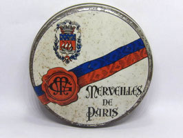Boite en fer de bonbons Merveilles de Paris / French sweet tin Merveilles de Paris