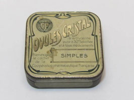 Boite métal ancienne pharmacie ovules cristal / Crystal Ovules old pharmacy tin