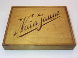 Jeu de nain jaune en bois vintage / French vintage « Nain Jaune » game empty wooden box