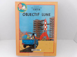 "Album double Tintin Objectif Lune & On a marché sur la lune / Double Tintin Album ""Objectif Lune"" & ""On a marché sur la lune"