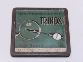 Boite ancienne d'aiguilles hypothermiques Trinox / Old Trinox hypothermic needles tin