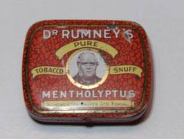 Boite métal Dr Rumney's pure tobacco snuff / Pure tobacco snuff Dr Rumney's tin