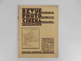 """Revue française de photographie et de cinématographie / French """"revue française de photographie et de cinématographie"""""""