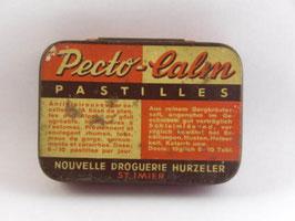 Boite en métal de pharmacie pastilles Pecto-Calm / Pecto-Calm pill pharmacy tin