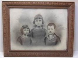 Photo d'enfants ancienne réhaussée / Enhanced antique children photo