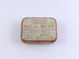 Ancienne petite boite en métal de pharmacie de Sel de Hunt / Old small pharmaceutical tin, Sel de Hunt