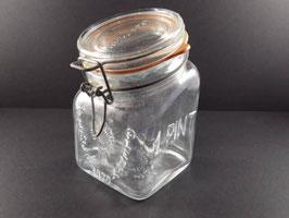 Bocal en verre vintage Granny's product 1 pint / Vintage Granny's product 1 pint glass jar