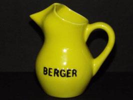 Pichet en céramique jaune BERGER / BERGER yellow ceramic jug