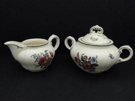 Pot à sucre et pot à lait Villeroy & Boch, modèle 1562 / Villeroy & Boch sugar pot and milk pot model 1562