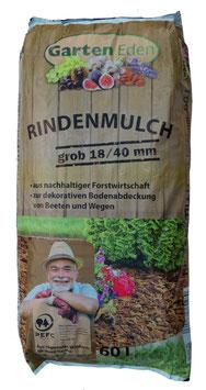 Rindenmulch 18-40 grob - 60L