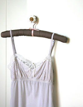 "Satin covered clothes hanger ""chocolate"""