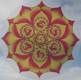 fleurs soleil 3                     mandala vitrail  grand format