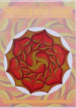 fleurs soleil 2                    mandala vitrail  petit format