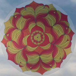 fleurs soleil 1                     mandala vitrail  grand format