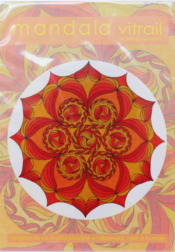 fleurs soleil 3                    mandala vitrail  petit format