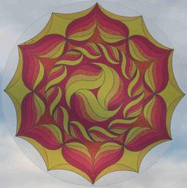 fleurs soleil 2                     mandala vitrail  grand format