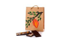 Kakaopur -Geschenkverpackung für das Schokoladenset