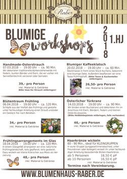 Blumige Workshops & Warengutscheine von Blumenhaus Raber