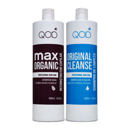 QOD max OrganiQ Brazilianische Keratin Hair Treatment 4er KIT Blow Dry